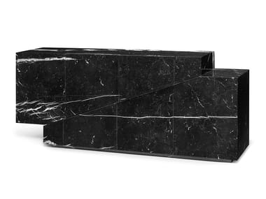 Marble sideboard with drawers MERIDIANO | Marble sideboard