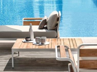 Rectangular teak garden side table MERIDIEN | Coffee table