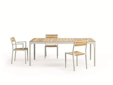 Stackable garden chair with armrests MERIDIEN | Garden chair
