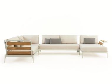 Corner modular fabric garden sofa MERIDIEN | Modular garden sofa