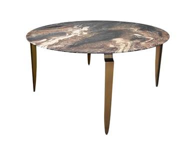 Tavolo da pranzo rotondo in marmo MESA D 130 | Tavolo rotondo