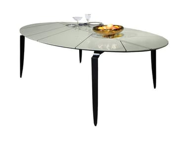 Lacquered oval dining table MESA EL F