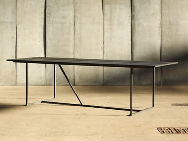 Oak table MESA NERO
