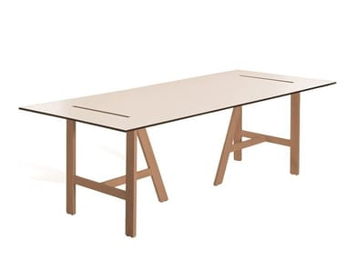 Rectangular wooden table MESANA 4F2110HDF