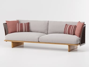 Fabric garden sofa MESH | 3 seater garden sofa
