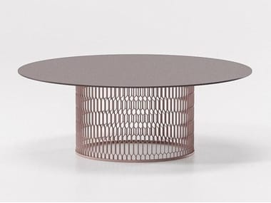 Aluminium garden side table MESH | Aluminium coffee table