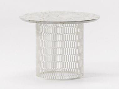 Marble side table MESH | Marble coffee table