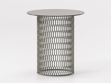 Aluminium side table MESH | Side table