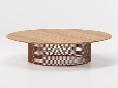Teak garden side table MESH | Teak coffee table
