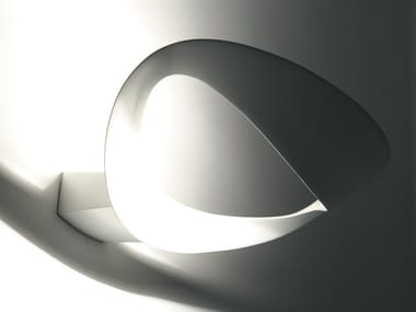 Indirect light die cast aluminium wall lamp MESMERI