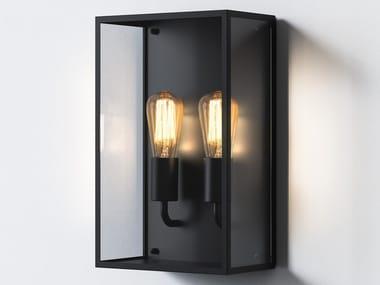 Applique per esterno a LED a luce indiretta in acciaio inox in stile moderno MESSINA TWIN