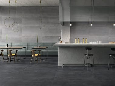 Porcelain stoneware wall/floor tiles with metal effect MET-ALL