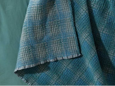 Plaid tartan in lana e seta MET