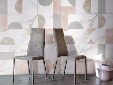 Rivestimento in gres porcellanato effetto marmo METAFISICO - TEXTURA