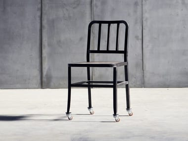 Metal chair with castors METAL CHAIR | Chair with castors