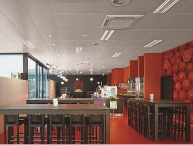 Acoustic metal ceiling panels METAL CLIP-IN