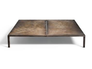 Tavolino basso da giardino quadrato in acciaio inox METALLARO