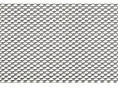 Pierced and stretched sheet metal METALLIC MESH