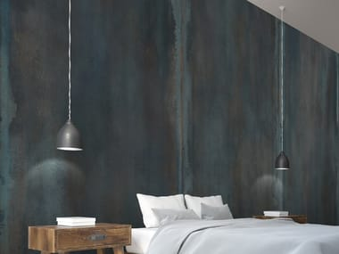 Wallpaper with metal effect METALLO CEMENTO