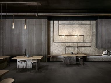 Wall/floor tiles with metal effect METAMORFOSI
