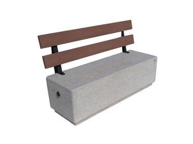 Panchina per esterni in conglomerato METAMORFOSI   Panchina con schienale