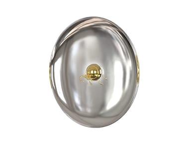 Wall-mounted stainless steel mirror with integrated lighting METAMORPHOSIS   Mirror
