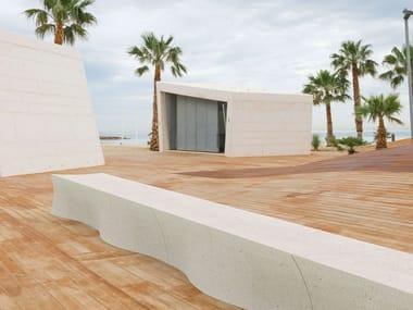 Panchina modulare in cemento fibrorinforzato METEOR | Panchina modulare