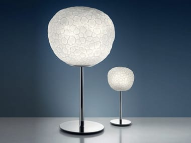 Halogen blown glass table lamp METEORITE 15-35