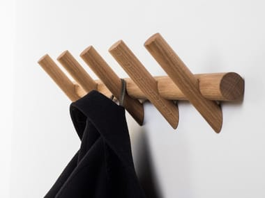 Wall-mounted wooden coat rack METER | Wall-mounted coat rack