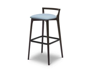 High beech stool with footrest METRO 159