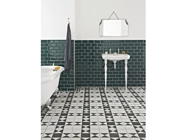 Indoor red-paste wall tiles with crackle effect METRO