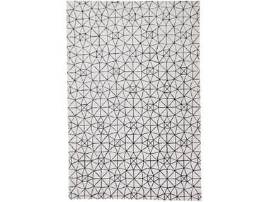 Handmade rectangular rug METROPOLE SPHERE