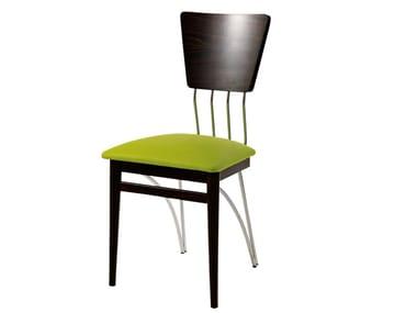 Chair with integrated cushion METROPOLIS | Chair