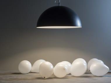 Lámpara colgante de resina MEZZA LUNA 1 LAVAGNA