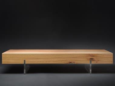 Low rectangular beech coffee table MEZZO#02