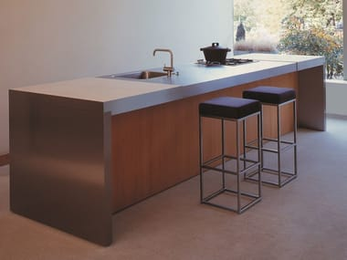 Steel and wood kitchen MG PROGR.031