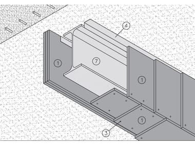 Fireproof panel for interior partition MGO FIRE PLUS® R39