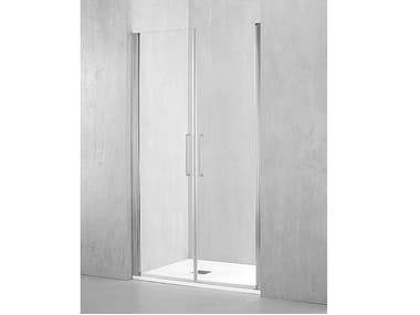Box doccia a nicchia in alluminio con porta pivotante MI-PSA2