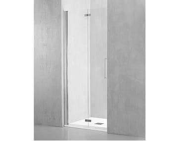 Box doccia a nicchia in alluminio con porta a soffietto MI-PSO