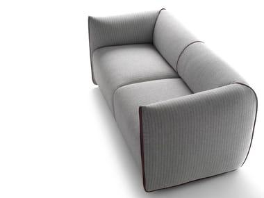 Sofá 2 lugares de tecido com estojo removível MIA | Sofá