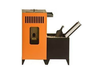 Pellet stainless steel stove MIA