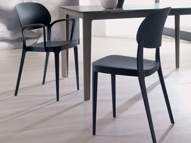 Stackable technopolymer chair MIA | Chair