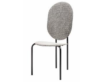Chaise en tissu avec dossier haut MICHELLE | Chaise avec dossier haut