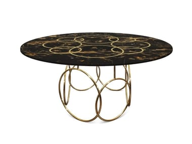 Round marble table MICHIGAN