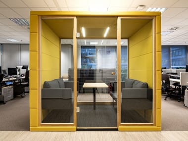 Acoustic multimedia office booth MICROOFFICE QUADRIO I