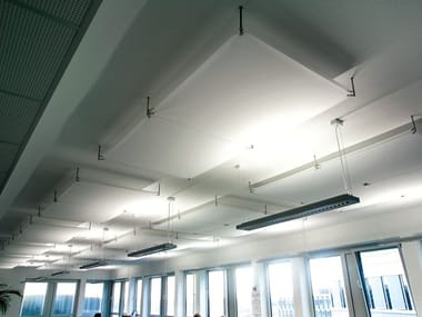 PVC hanging or wall acoustic panel BARRISOL® MICROSORBER | Acoustic ceiling clouds