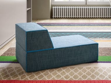 With removable cover fabric Chaise longue MIGUEL