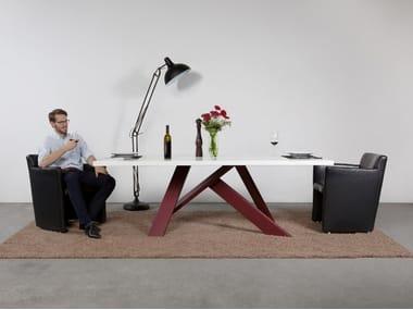 Rectangular steel and wood table MIKADO - ART611   Table