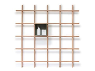 Open wooden shelving unit MIKE