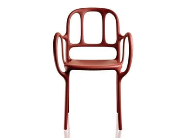Stackable polypropylene chair MILÀ | Chair